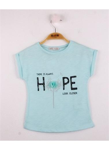 Toontoy Toontoy Kız Çocuk Hope Baskılı Tişört Yeşil